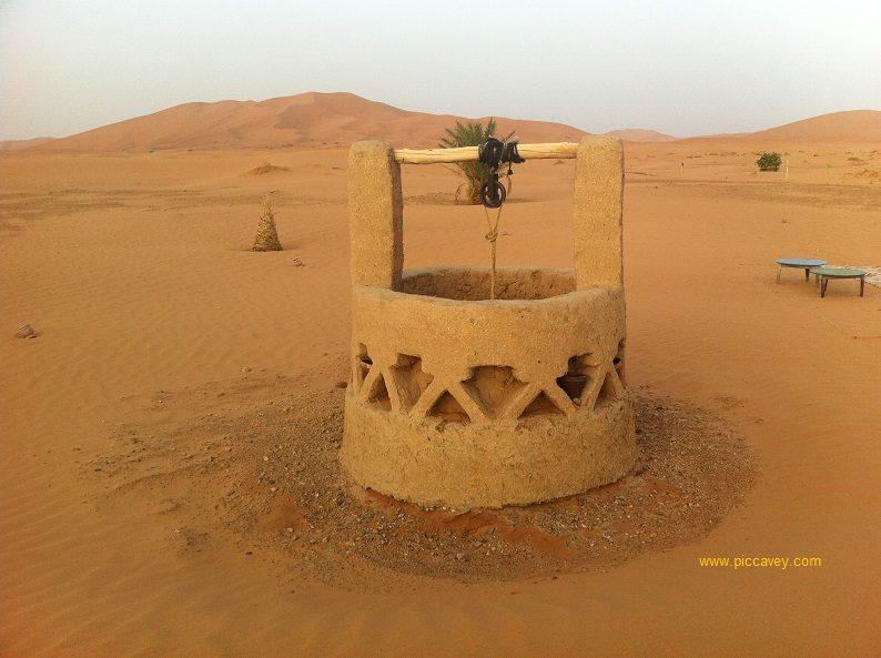 Well in Merzouga Desert Camp