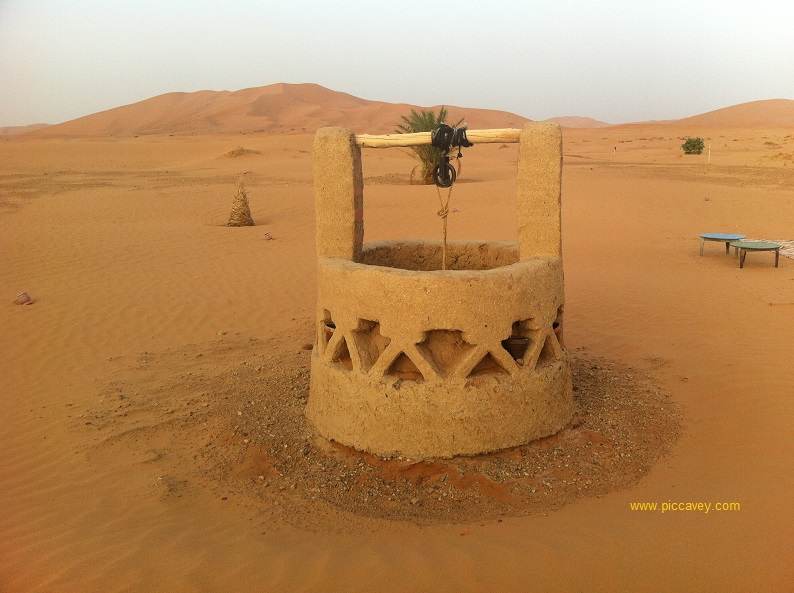 Well in Merzouga Desert Camp
