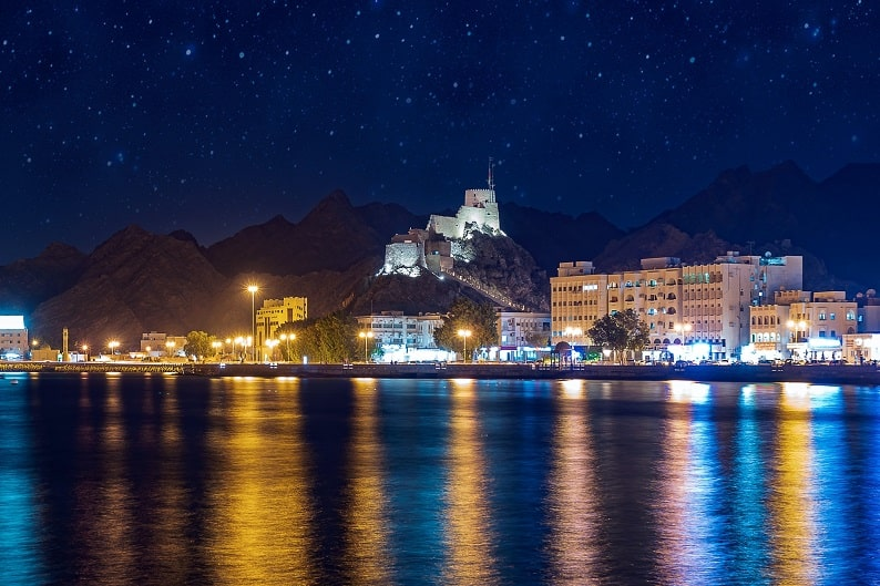 Muscat Oman at Night