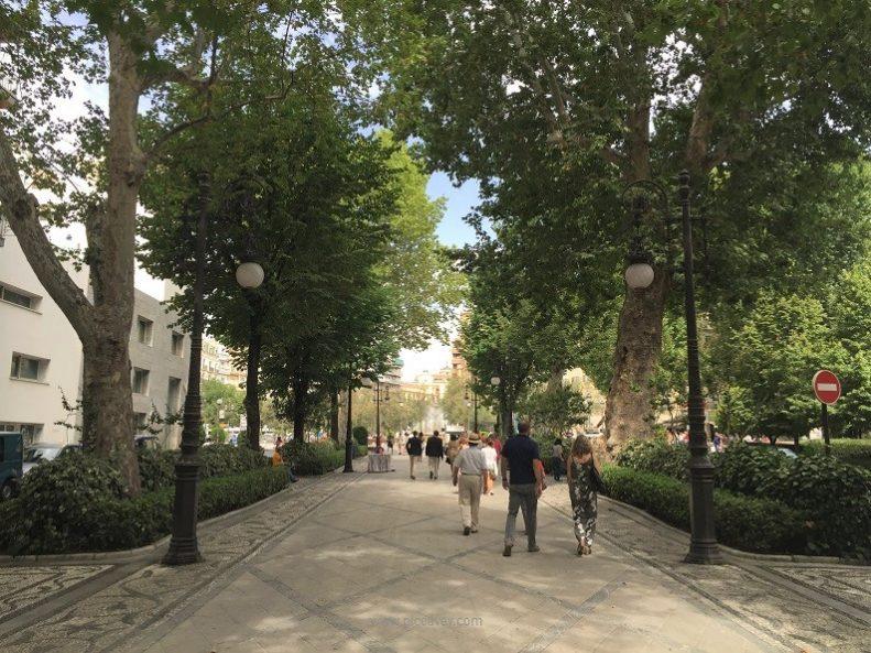 carrera virgen granada street in spain