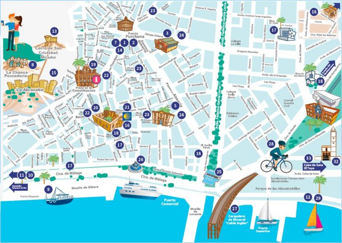 Almeria City Map for Selfie Competition