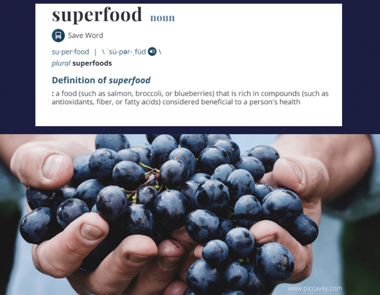 Superfood list Definition
