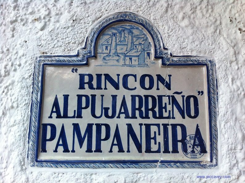 street signs in pampaneira