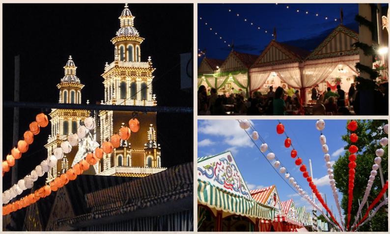 Seville Fair in Spain